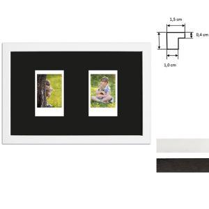 Billedramme til 2 polaroidbilleder - Type Instax Mini