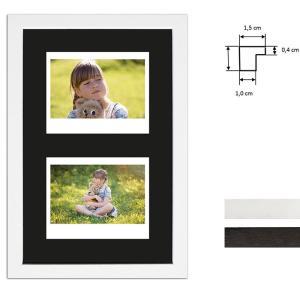 Billedramme til 2 polaroidbilleder - Type Instax Wide