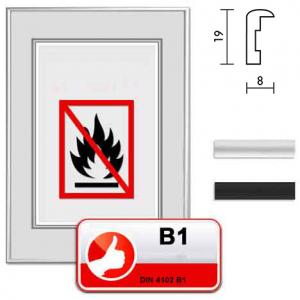 """Certificeret Standard B1 Brandbeskyttelsesramme """"Econ rund"""""""