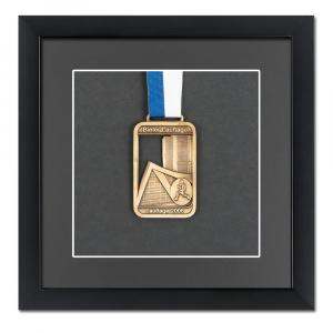 Medaljeramme 20x20 cm, sort