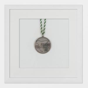 Medaljeramme 20x20 cm, hvid