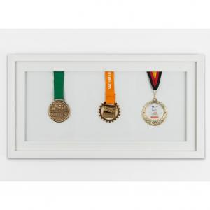 Medaljeramme 25x50 cm, hvid