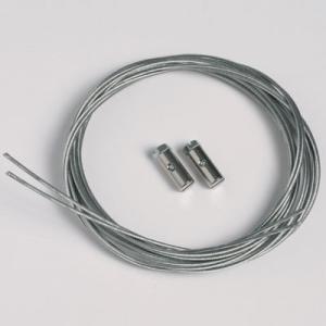 2 stk. Stålkabler 1,3 mm/200 cm med skrueglidere