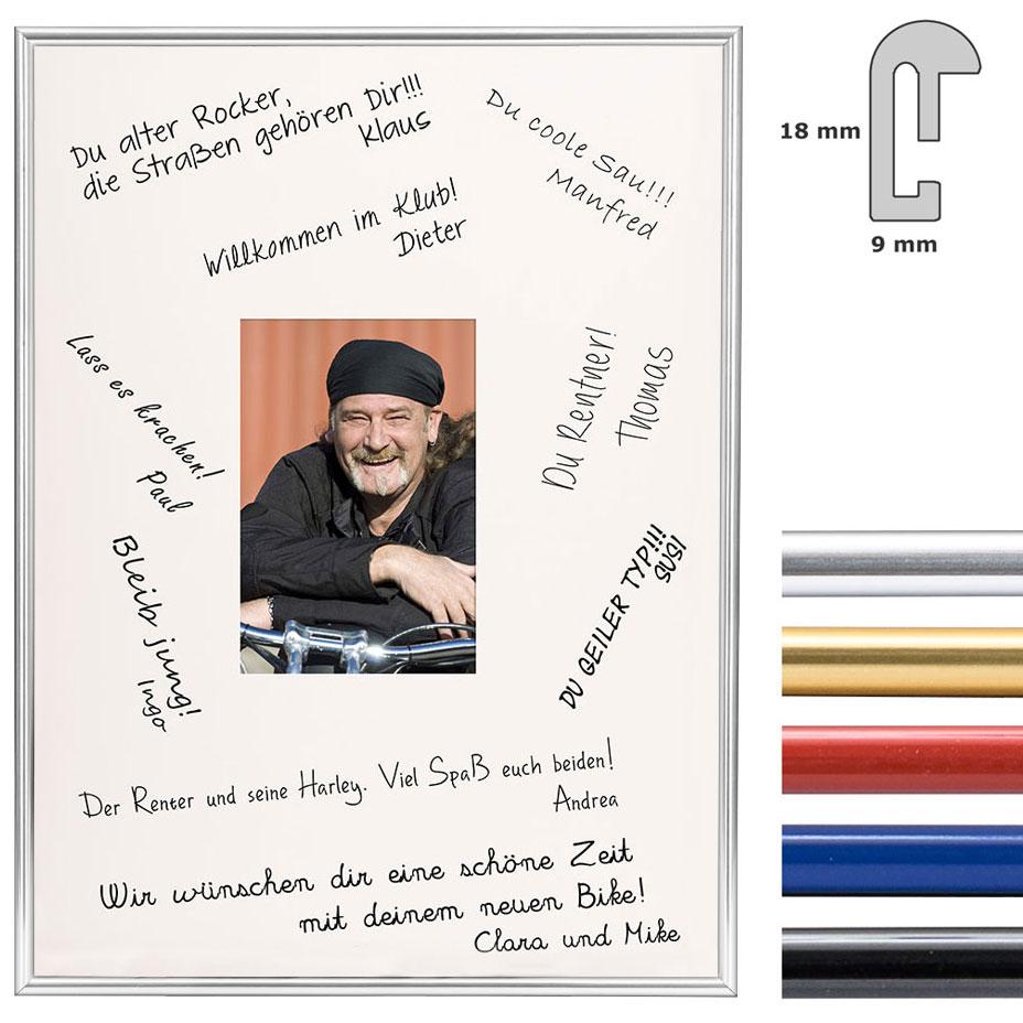 Signatur-Billedramme i kunststof - 30x40 cm