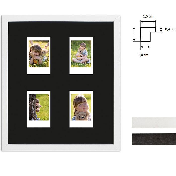 Billedramme til 4 polaroidbilleder - Type Instax Mini