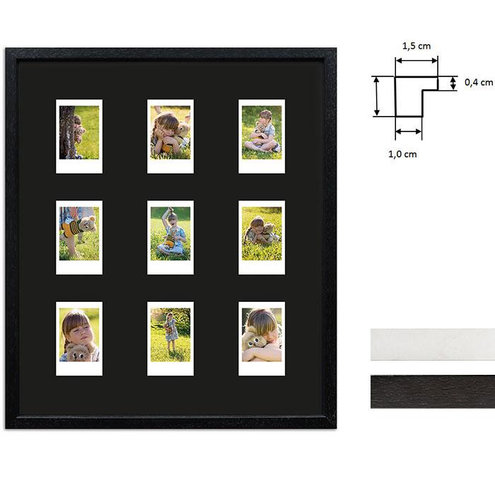 Billedramme til 9 polaroidbilleder - Type Instax Mini