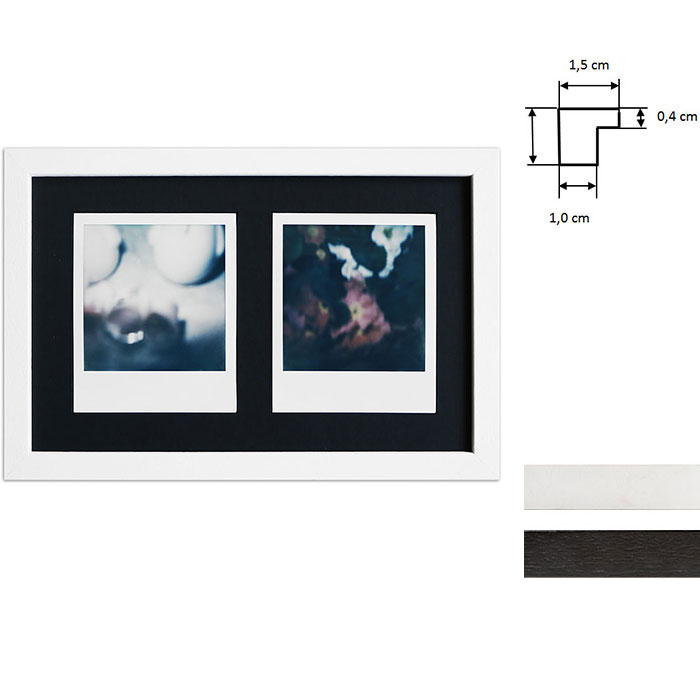 Nice Artvera-Bilderrahmen Billedramme til 2 polaroidbilleder - Type RZ99