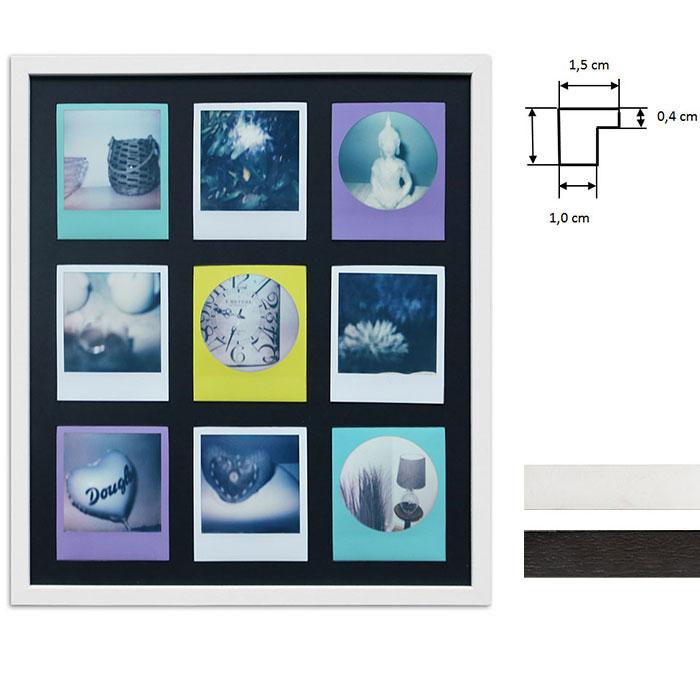 Billedramme til 9 polaroidbilleder - Type Polaroid 600