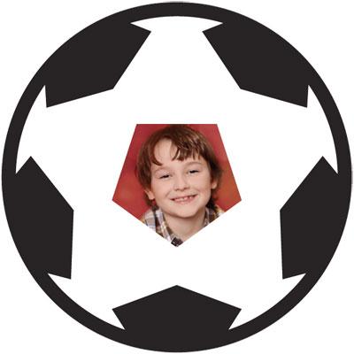 "Motiv-Passepartout ""Fodbold"""
