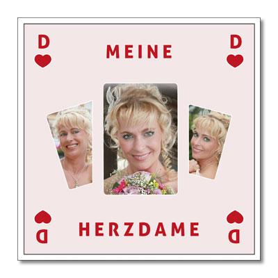 """Tema-Passepartout """"Hjerter dame"""""""