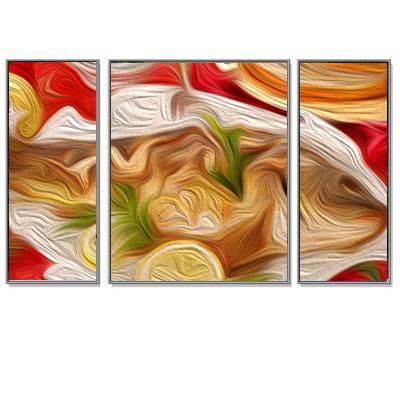 Triptychon billedrammesæt i aluminium Quadro