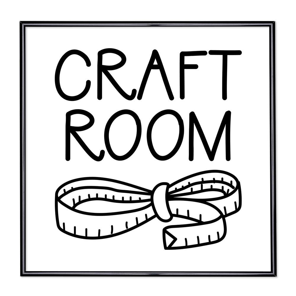 Billedramme med ordsprog - Craft Room