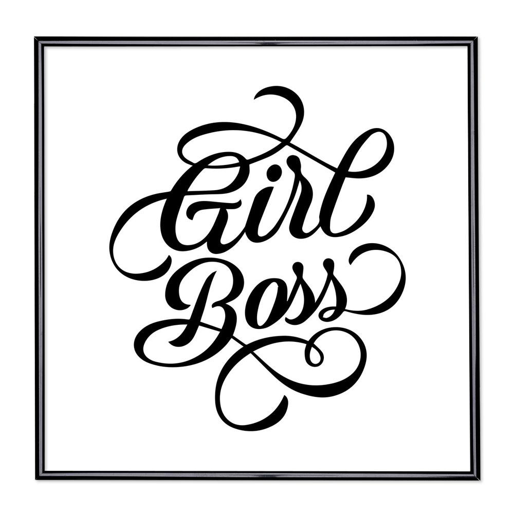 Billedramme med ordsprog - Girl Boss