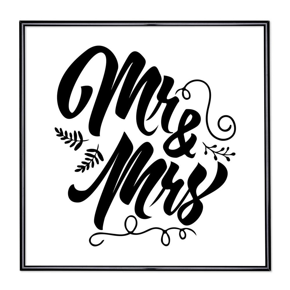 Billedramme med ordsprog - Mr & Mrs