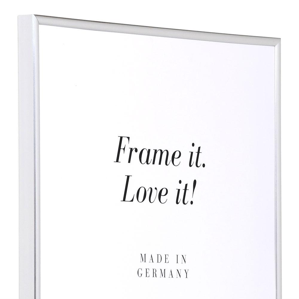 Kunststoframme Art 10x15 cm | sølv | Normalglas