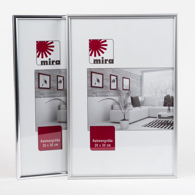 Kunststoframme Art - Alu-Like 24x30 cm | Sølv mat | Normalglas