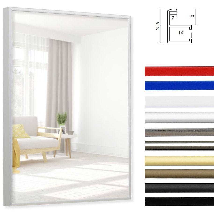 Badeværelsesspejl Quadro i Aluminium