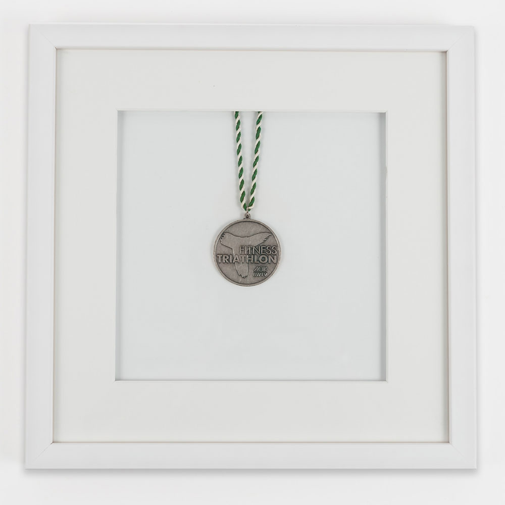 Medaljeramme 30x30 cm, hvid