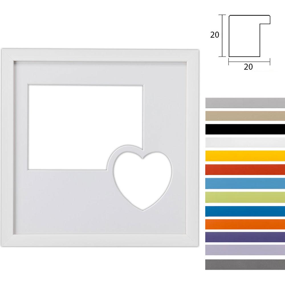 Galleriramme Top Cube 30x30 cm til 2 fotos med et hjerte