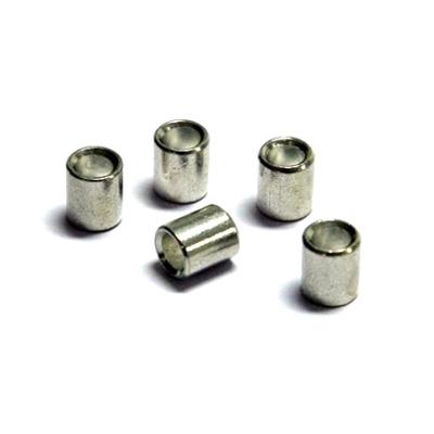 100 stk. Øsken til nylonreb (2mm) og stålkabler, hvid (1,5mm)