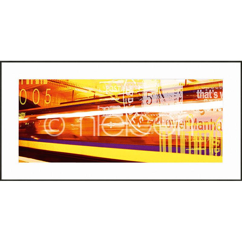 """Indrammet billede """"Metro Lower Manhattan"""" med aluramme C2"""