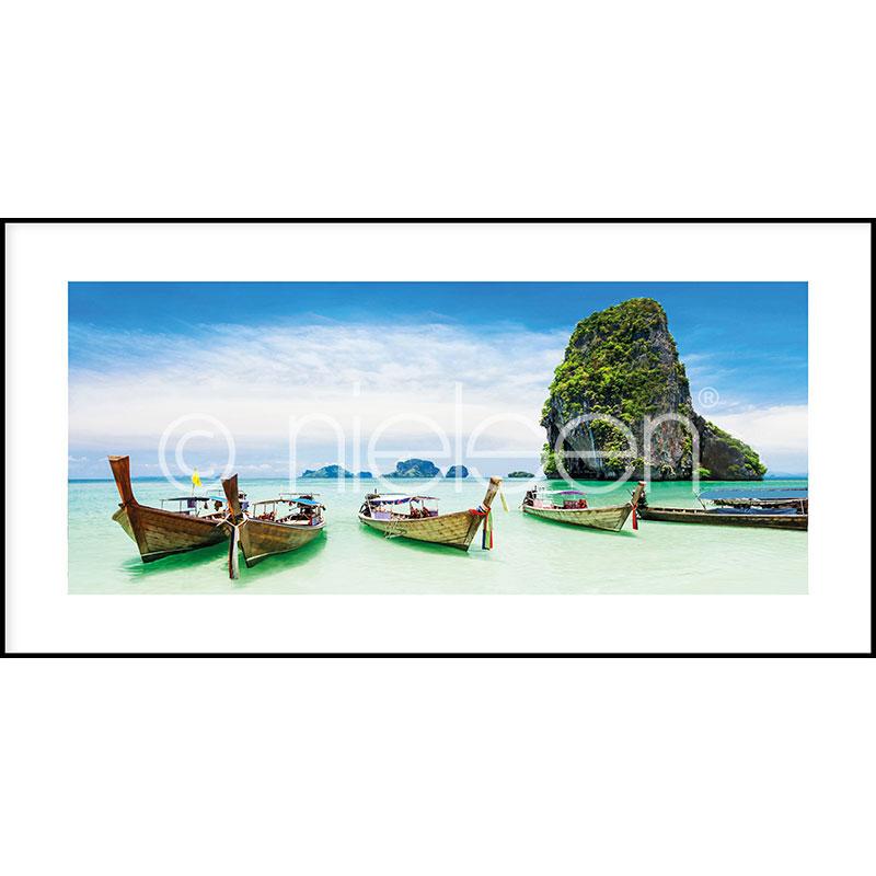 """Indrammet billede """"Exotic Island"""" med aluramme C2"""