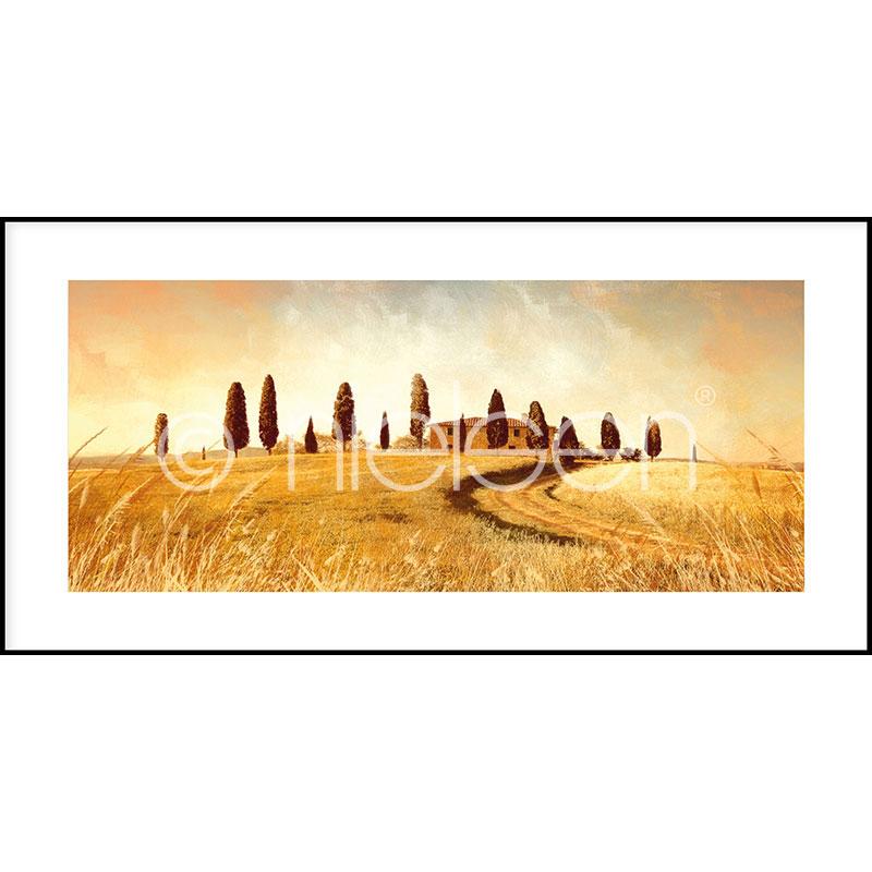 """Indrammet billede """"Landscape Italy"""" med aluramme C2"""