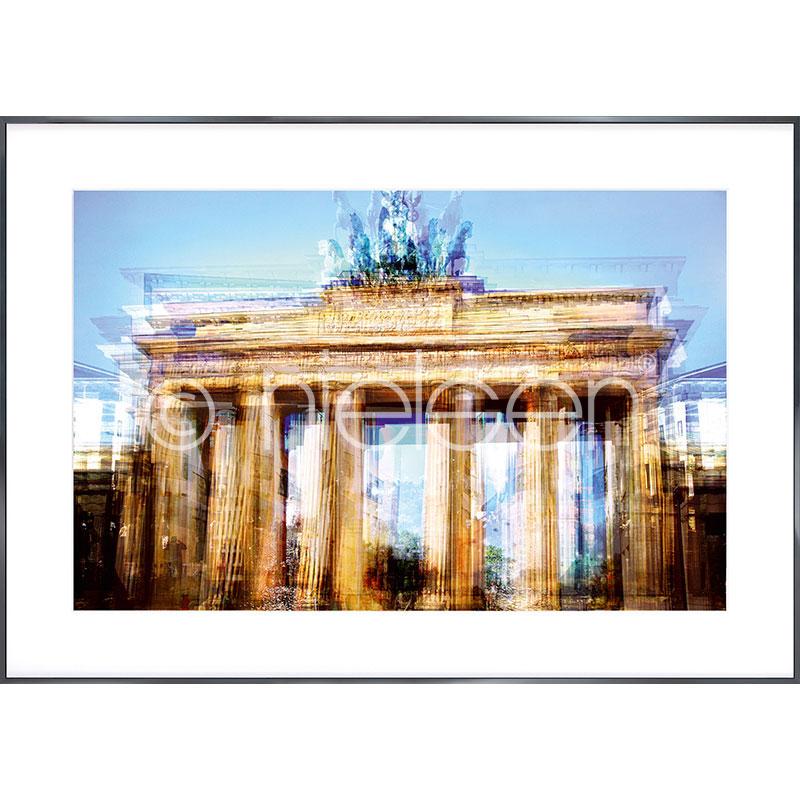 """Indrammet billede """"Brandenburg Gate"""" med aluramme Alpha"""