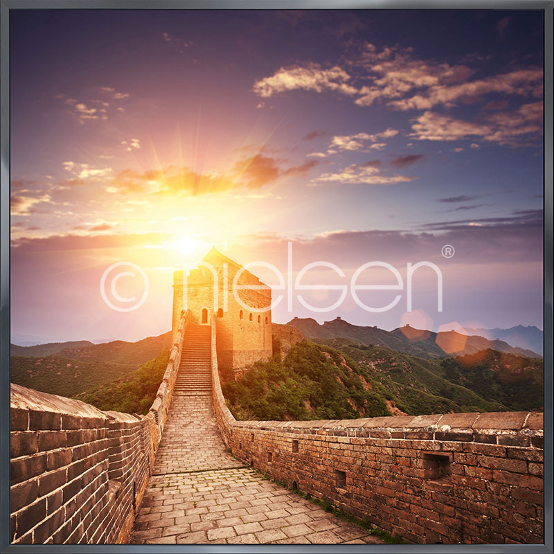 "Indrammet billede ""Chinese Wall"" med aluramme Alpha"