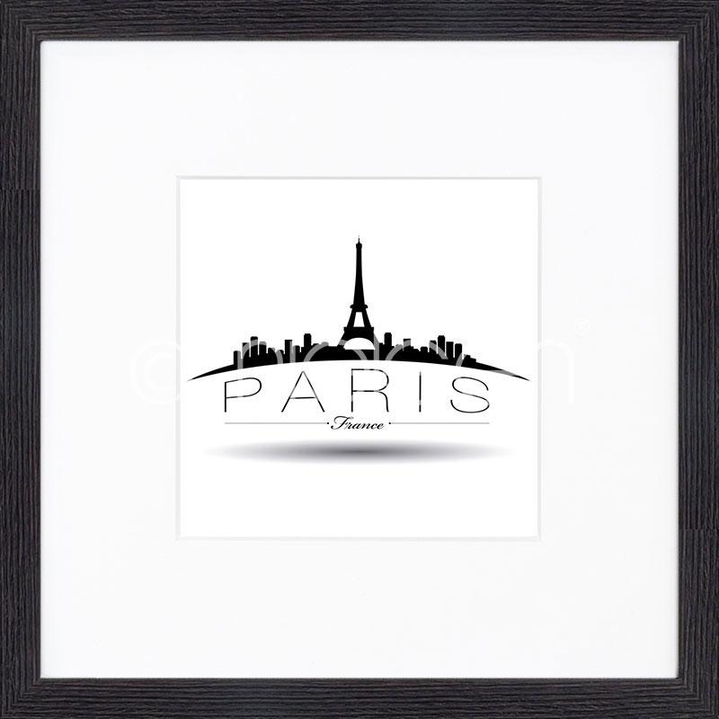 """Indrammet billede """"Paris"""" med træramme Quadrum"""