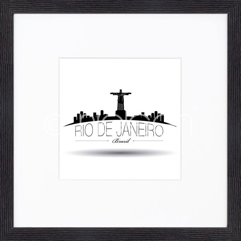 """Indrammet billede """"Rio de Janeiro"""" med træramme Quadrum"""