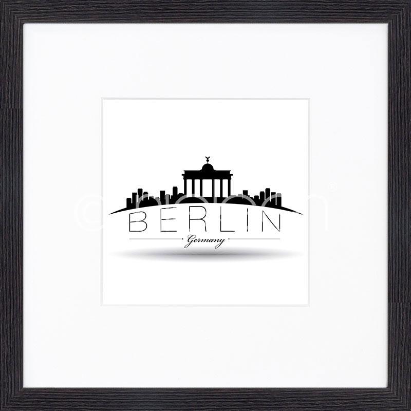 """Indrammet billede """"Berlin"""" med træramme Quadrum"""