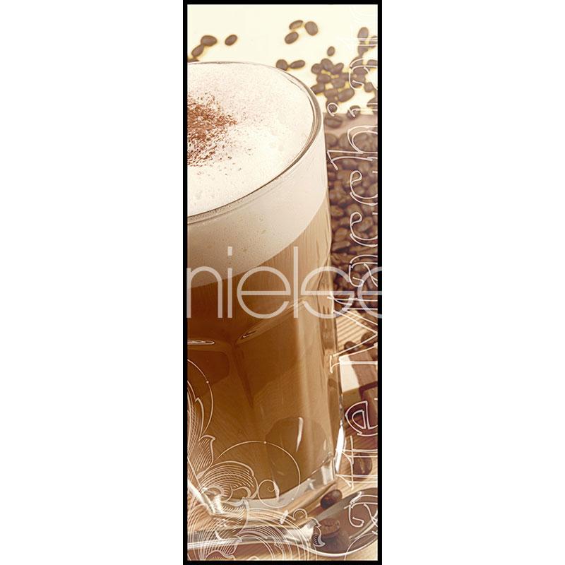 """Indrammet billede """"Coffee Time"""" med aluramme C2"""