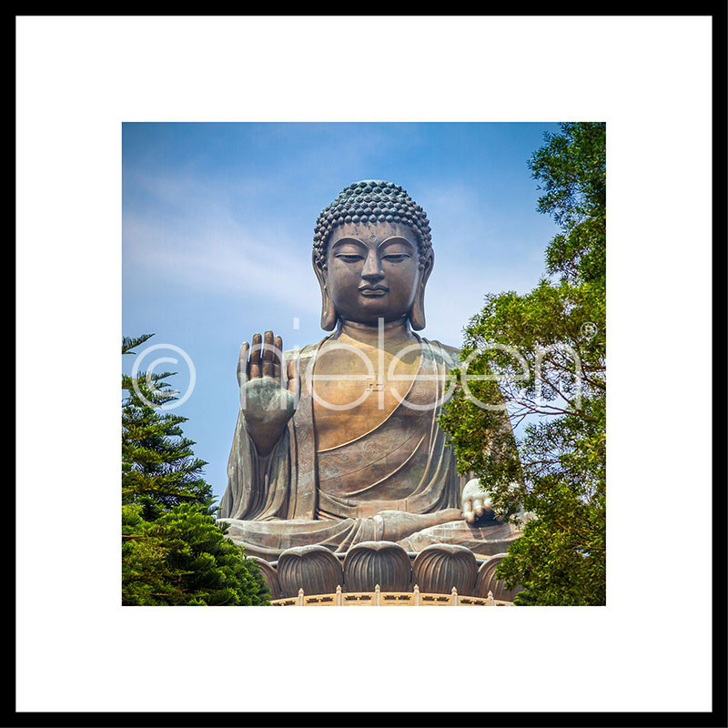 "Indrammet billede ""Statue of Buddha"" med aluramme C2"