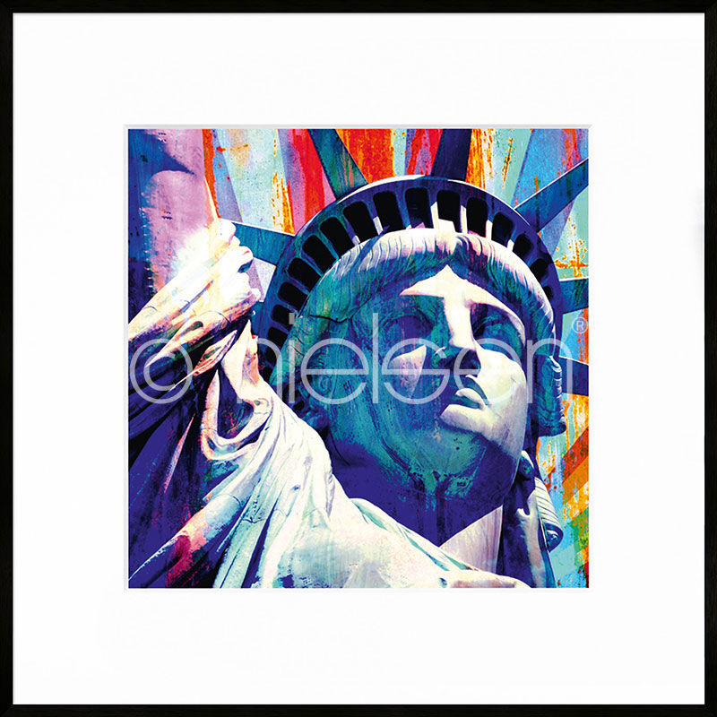 "Indrammet billede ""Statue of Liberty"" med aluramme C2"