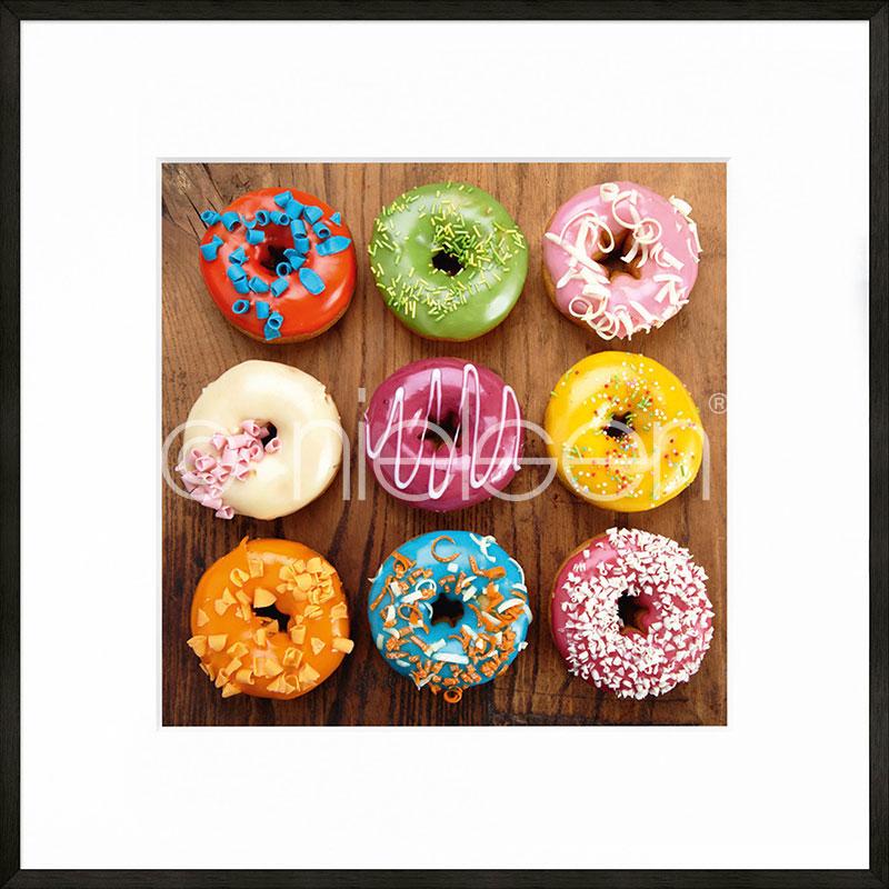 """Indrammet billede """"Donuts"""" med aluramme C2"""