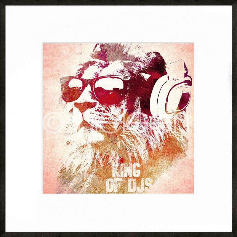 """Indrammet billede """"King of DJs"""" med aluramme C2"""