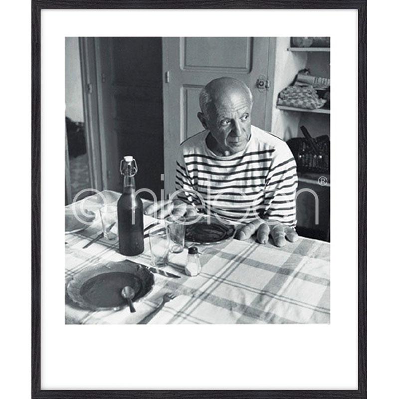 "Indrammet billede ""Les pains de Picasso 1985"" med træramme Quadrum"
