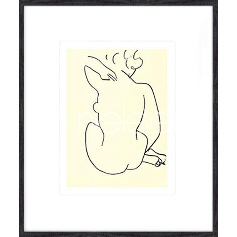 """Indrammet billede """"Nu, 1949 con Matisse"""" med træramme Quadrum"""