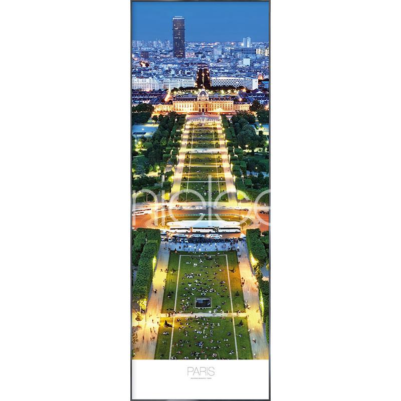 """Indrammet billede """"Champs de Mars Parc"""" med aluramme Alpha"""