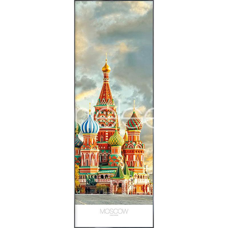 """Indrammet billede """"Moscow"""" med aluramme Alpha"""