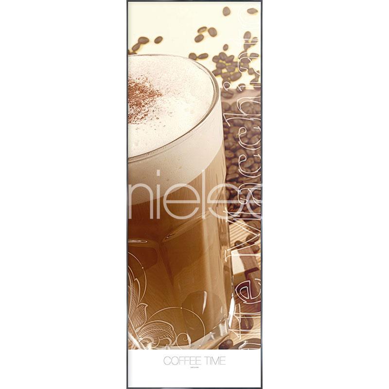 """Indrammet billede """"Coffee Time"""" med aluramme Alpha"""
