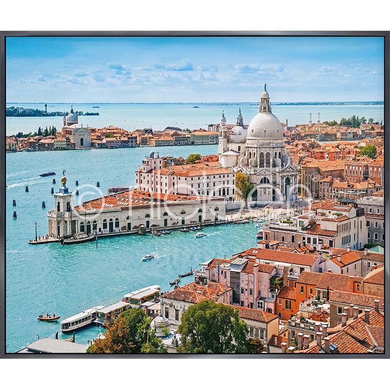 "Indrammet billede ""Venice Santa Maria"" med aluramme Alpha"