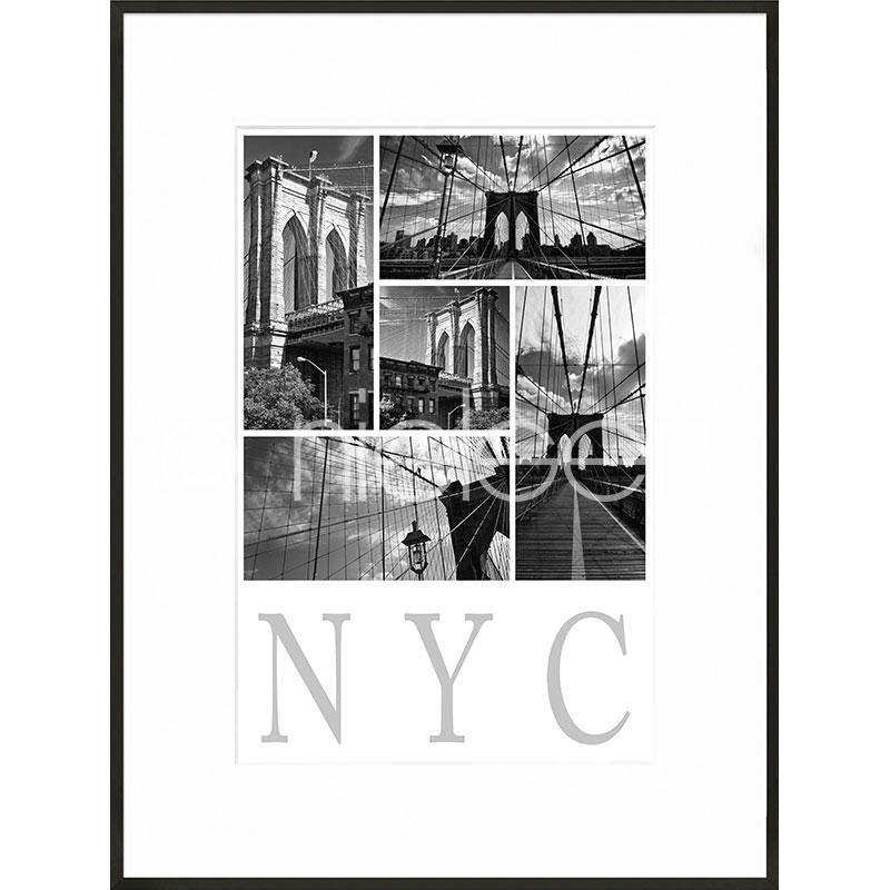 """Indrammet billede """"New York City"""" med aluramme C2"""