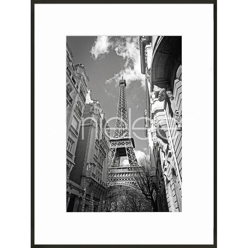 "Indrammet billede ""Eiffel Tower"" med aluramme C2"