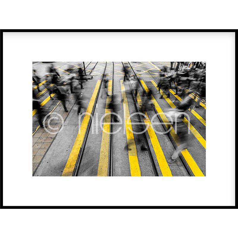 """Indrammet billede """"Zebra Crossing"""" med aluramme C2"""
