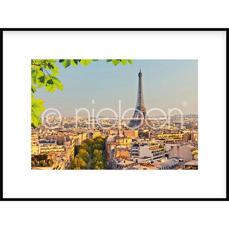 """Indrammet billede """"Paris"""" med aluramme C2"""
