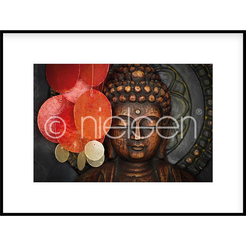 """Indrammet billede """"Buddha"""" med aluramme C2"""