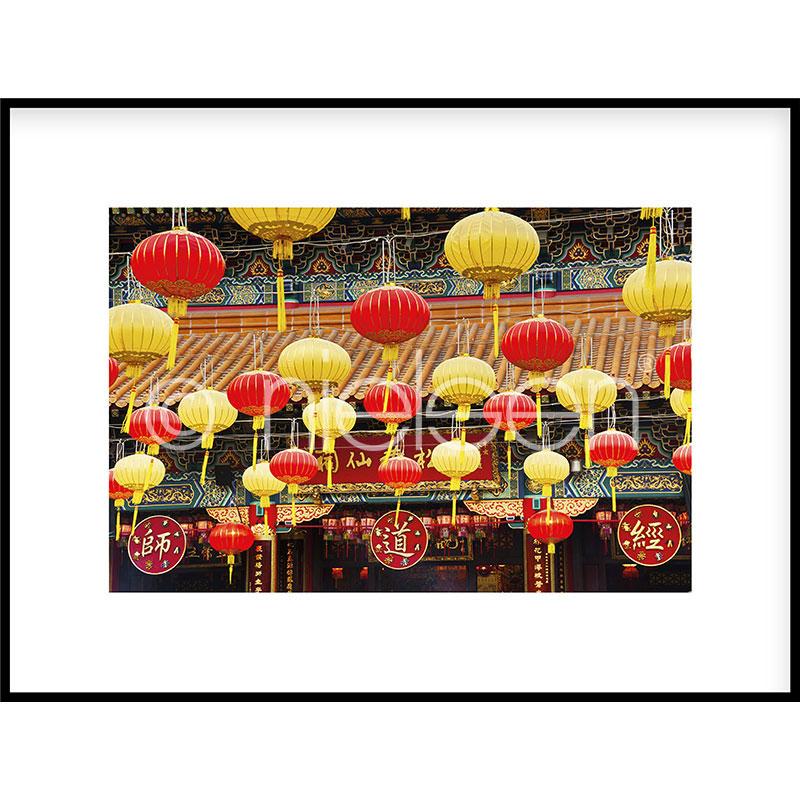 """Indrammet billede """"Buddha Temple"""" med aluramme C2"""