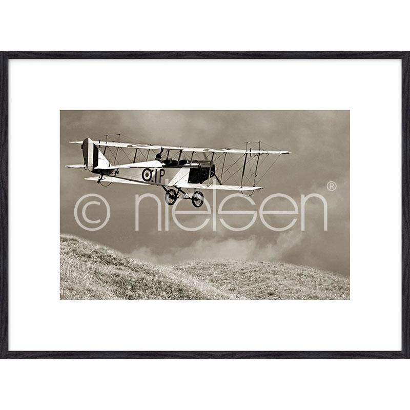 """Indrammet billede """"Historic Plane"""" med træramme Quadrum"""
